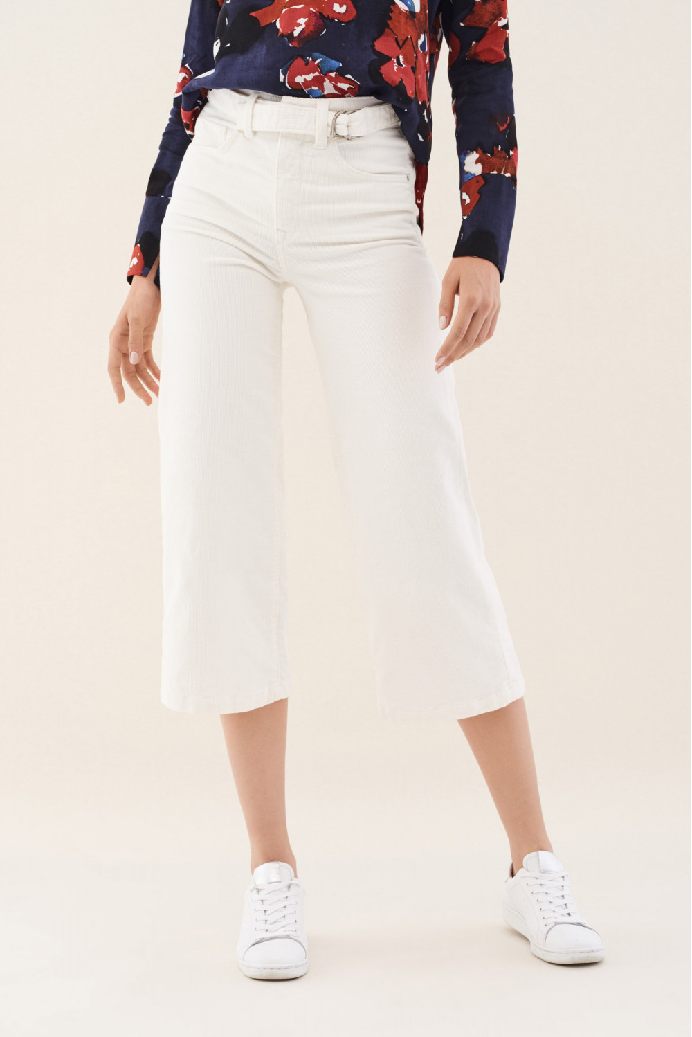 Corduroy Secret Glamour Push In flare culotte trousers