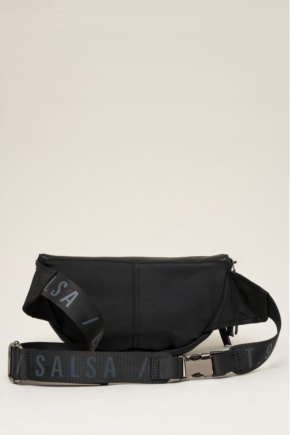 Purse belt in nylon and suede
