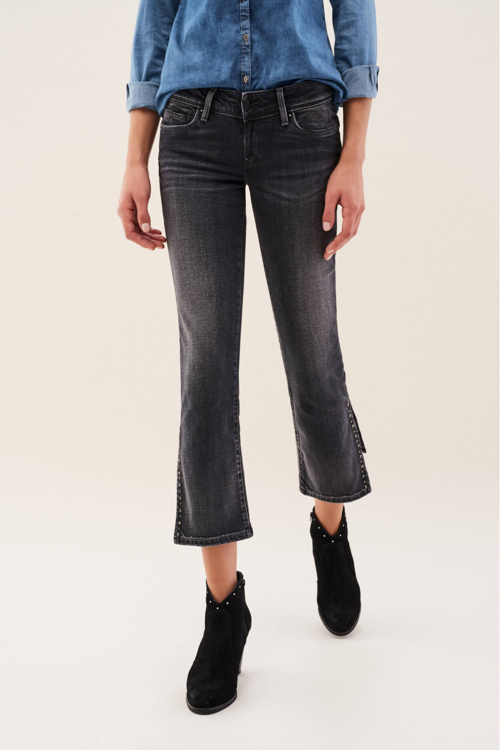 Cropped flare Shape Up jeans