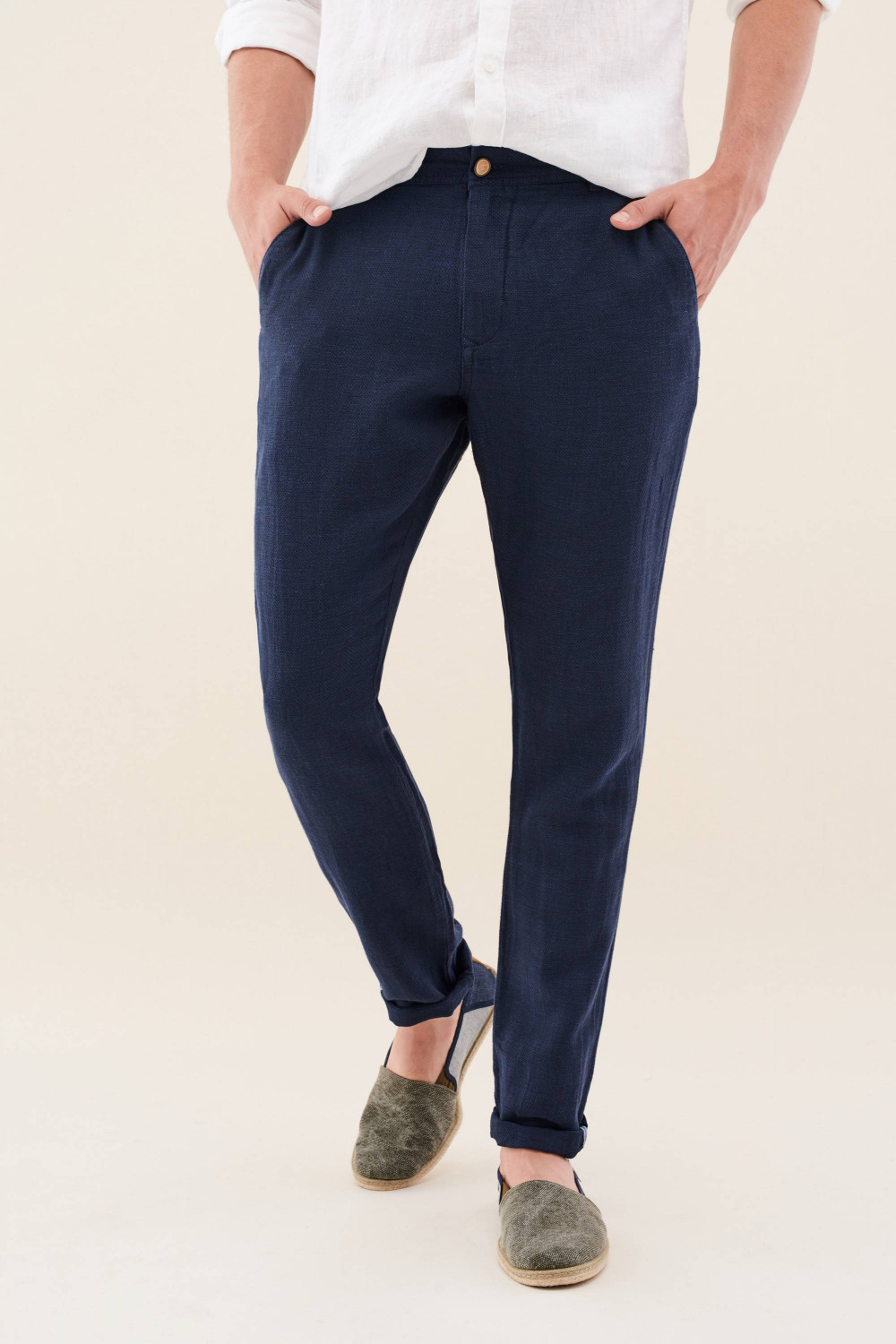 Andy Slim trousers in linen