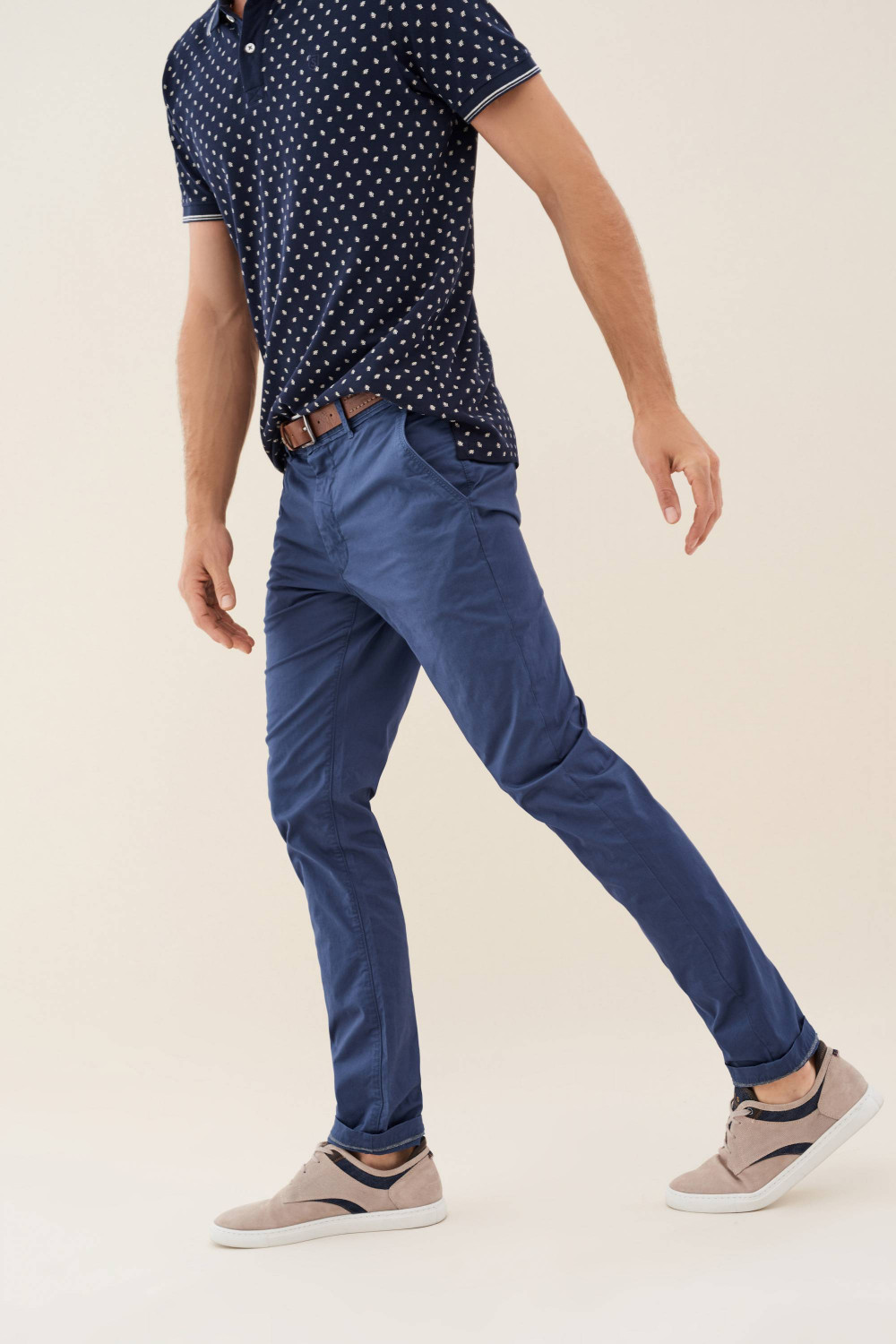 Andy slim chinos with belt