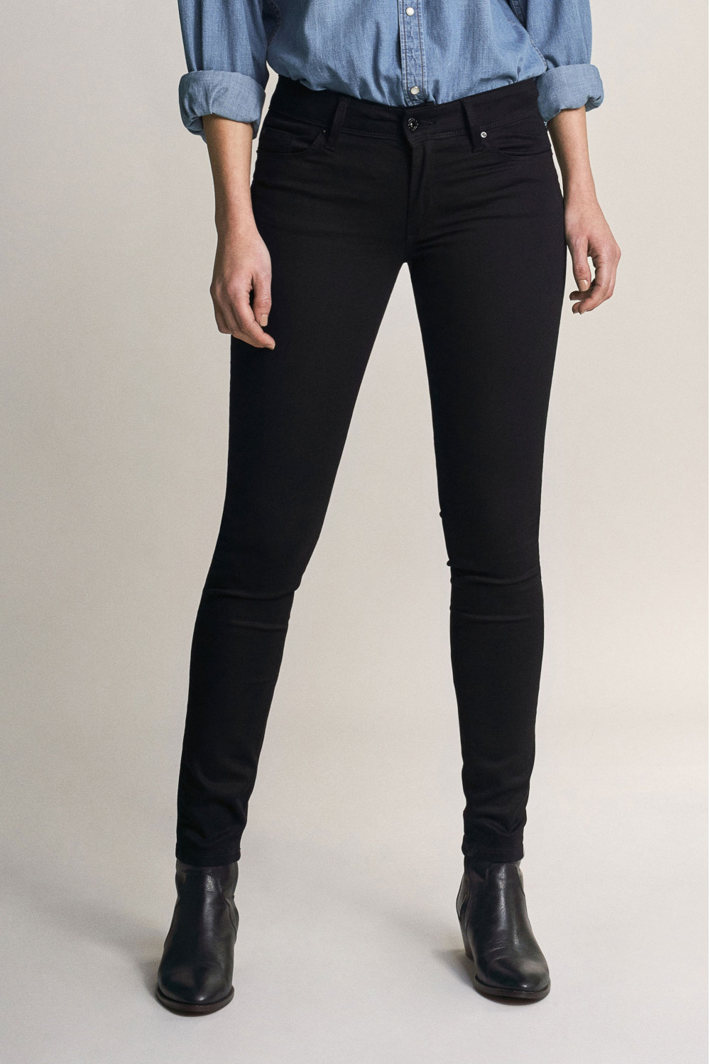 Wonder push up skinny true black jeans